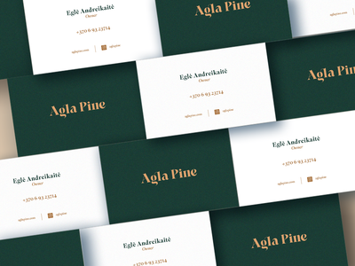 Agla Pine clothing brand design business card design swimsuit fashion green graphic design wordmark vector logo custom type branding typography logotype summer