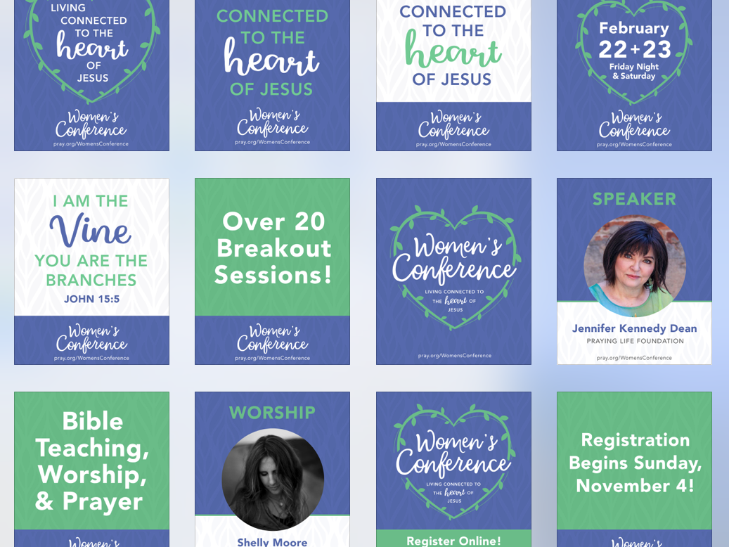 Conference Social Posts by Amy Crowder on Dribbble