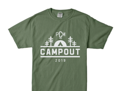 College Ministry Camping Tee tshirt tee shirt forest green sun tent icon trees pine 2019 group camping campout students church ministry college