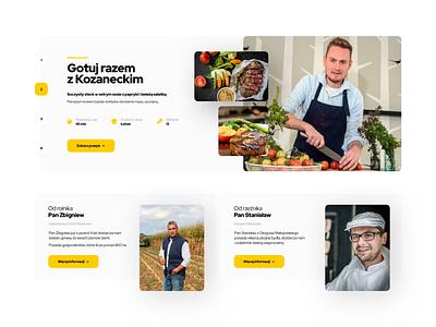 Shop Page - Kitchen Module minimalistic launch dinner kitchen yellow shop minimal landing icon flat branding typography web ux webdesign ui design
