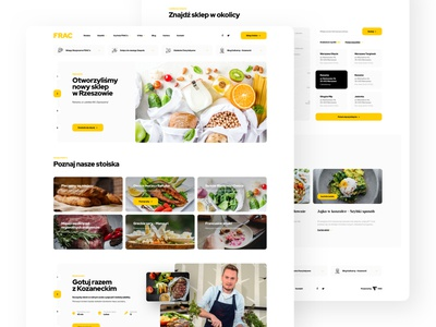 Shop Page landingpage food kitchen shop yellow website minimal brand icon branding web ux webdesign ui design