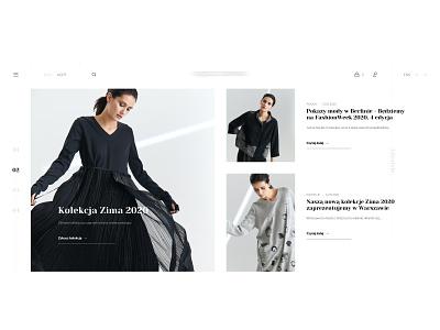 Fashion Page - Top module shop fashion photoshop website minimal typography branding web ux webdesign ui design
