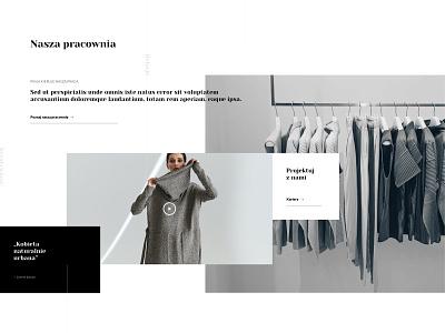 Fashion Page - Workshop module photo fashion shop website minimal typography branding web ux ui webdesign design