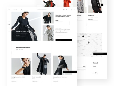 Fashion Page - Shot fashion shop website minimal typography branding web ux ui webdesign design
