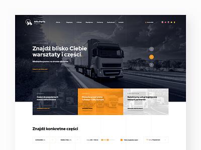 Logistic, Transport Page shop layout web design webdesign web parts transport logistic