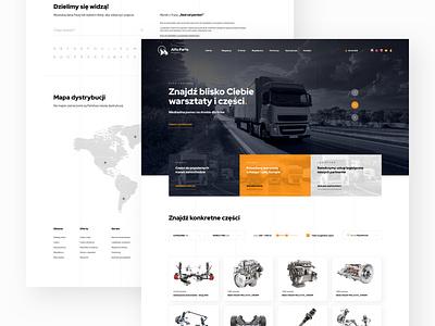 Logistic, Transport Page Shot parts truck shop landing web page design web design website web page web landing page transport logistic