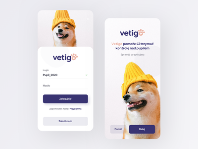 Pet Management Mobile App pastel color minimal app mobile ui mobile animals app pets animals animal pet app