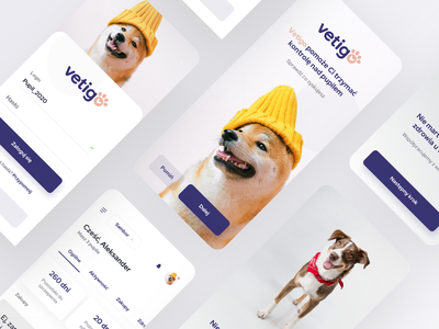 Pet Management Mobile App minimalist mobile design design ui mobile app animals logo animals pets pet mobile