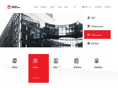 Windows factory - Home Page Shop shop window webpage landing icon flat brand typography branding web ux webdesign ui design