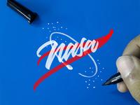 NASA Logo Brushpen style