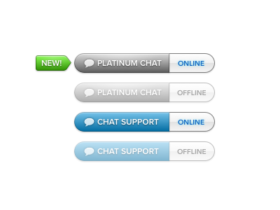 Chat Buttons button chat ui