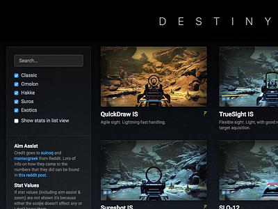 destinyscopes.com guns website bungie destiny