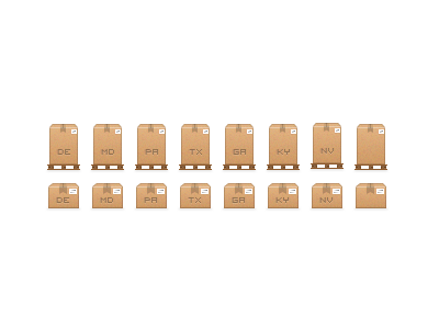 Some package icons sketch icons