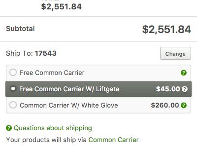 Shipping Calculator cart checkout shipping