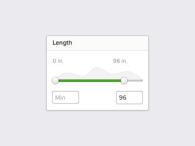 Filter Range Slider slider range filter