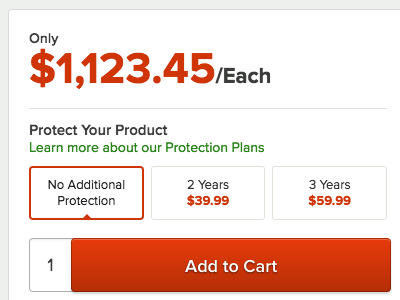 Protect Your Product shopping ecommerce pricing warranty