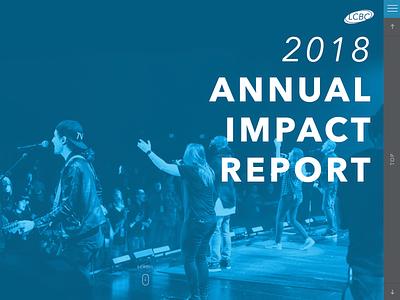2018 Annual Impact Report website impact report