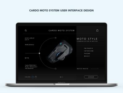 Cardo Moto System User interface design