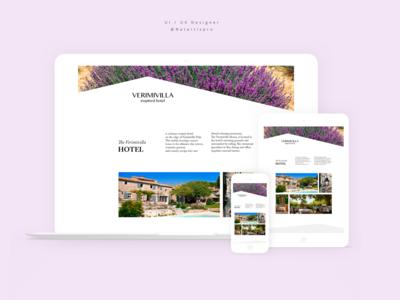 "Web Design. ""Vermivilla Hotel"" Provence, FranceArtboard"