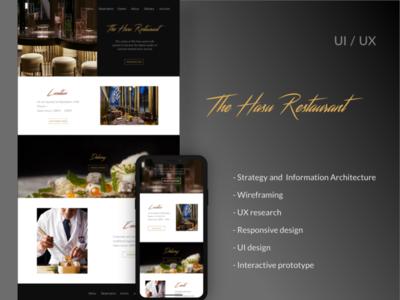 "UX UI Design for ""The Hasu"""