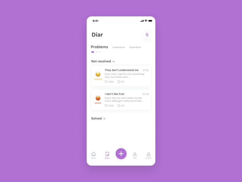 Diary App happy angry todo uxui design dailyui ux app diary