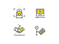 17 presentation icons icons presentation ui minimal illustration design vector flat presentation icons