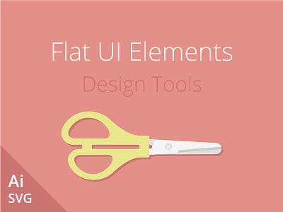 Flat UI Elements illustration flat ui elements design tools vector freebie