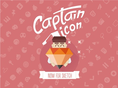 Captain Icon Sketchapp icons sketchapp free vector set sketch illustration flat icon freebie captain icon
