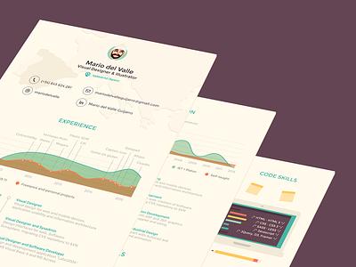 Resume print resume cv infographic graphic illustration icons avatar design curriculum vitae