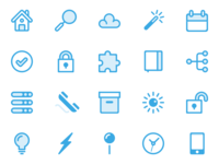 Blue Line Icons