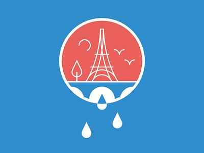 Pray for Paris tour eiffel eiffel illustration blue red france paris pray