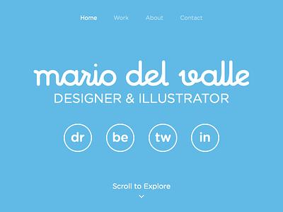 Portfolio type identity calligraphy brand web logo website round typography blue lettering portfolio