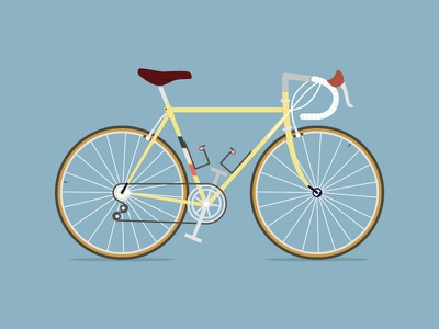 My best friend once look yellow road bike bycicle