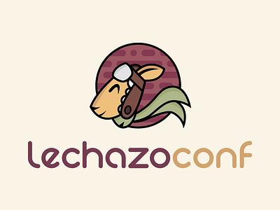 Lechazoconf tech conference scarf animal hat aviator lamb logo