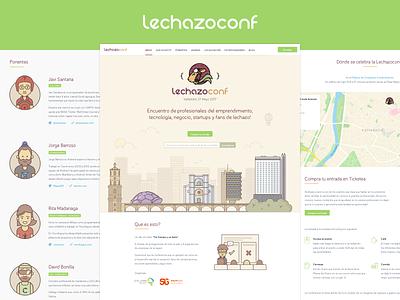 Lechazoconf Website speakers schedule talk event web design icons ui landing page conference meetup illustration website