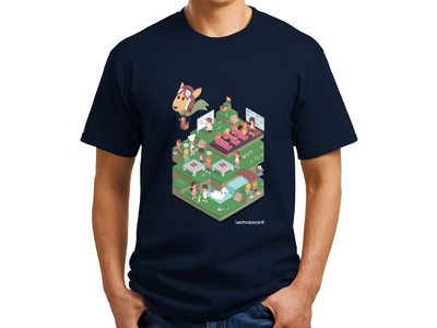 Lechazoconf 2018 Shirt lunch conferences t-shirt conference balloon green event isometric illustration