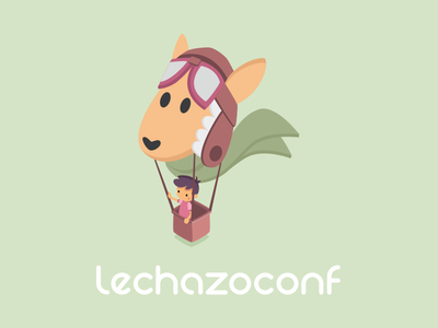 Wallpaper Lechazoconf 2018 free wallpaper illustration isometric event green balloon conference