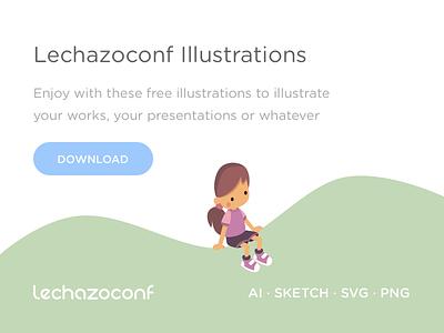 Free illustrations people balloon isometric illustration free