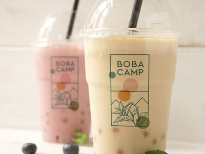 Boba Camp package design logo design concept vector logo design process brand identity brand concept branding design design branding