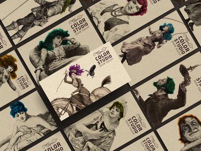 The Color Studio Hair Salon Business Cards