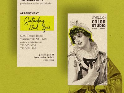 Color Studio Hair Salon Business Card design process concept vector brand identity brand concept logo design logo design branding design branding