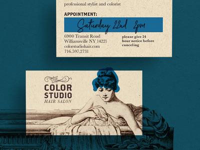 Color Studio Hair Salon Business Card
