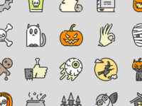 Halloween Colored Outline iconset