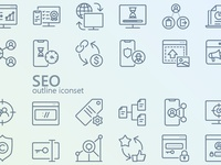 SEO & Optimization iconset