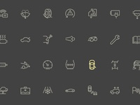 Little bit of Car dashboard iconset