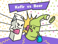 Kefir vs Beer