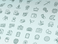 Old social outline iconset