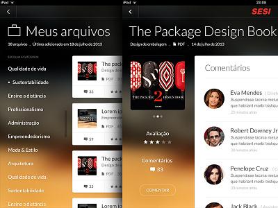Sesi app concept app design ios ipad mini ui kit user interface kit real pixel size application dark sesi mendesign screenshots