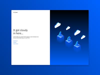 It got cloudy in here - 404 error page error 404 vector ux design