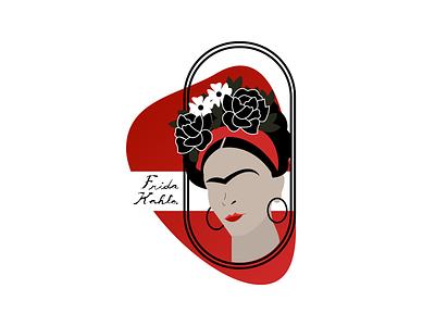 Frida Kahlo flowers fridakahlo woman girl logo illustration vector art frida